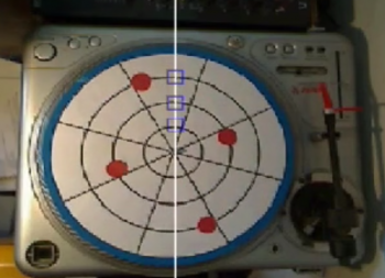 Screenshot of computer vision – Turntable Step Sequencer